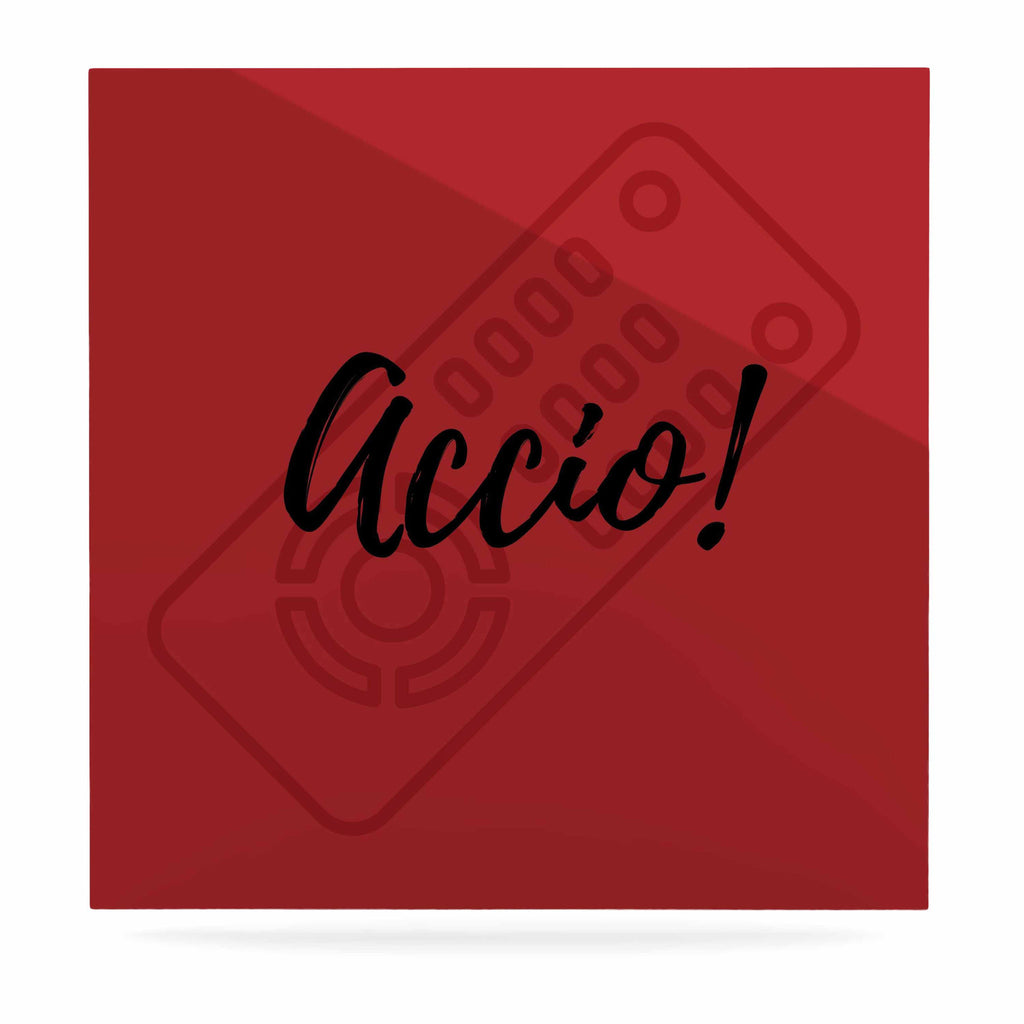 "Jackie Rose ""Accio! Remote"" Red Illustration Luxe Square Panel - KESS InHouse  - 1"