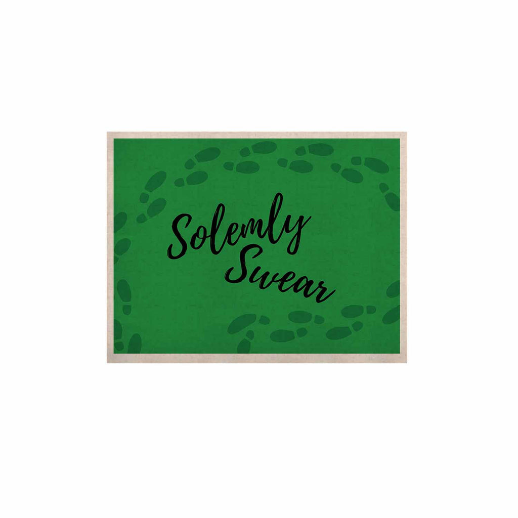"Jackie Rose ""Solemly Swear"" Green Illustration KESS Naturals Canvas (Frame not Included) - KESS InHouse  - 1"