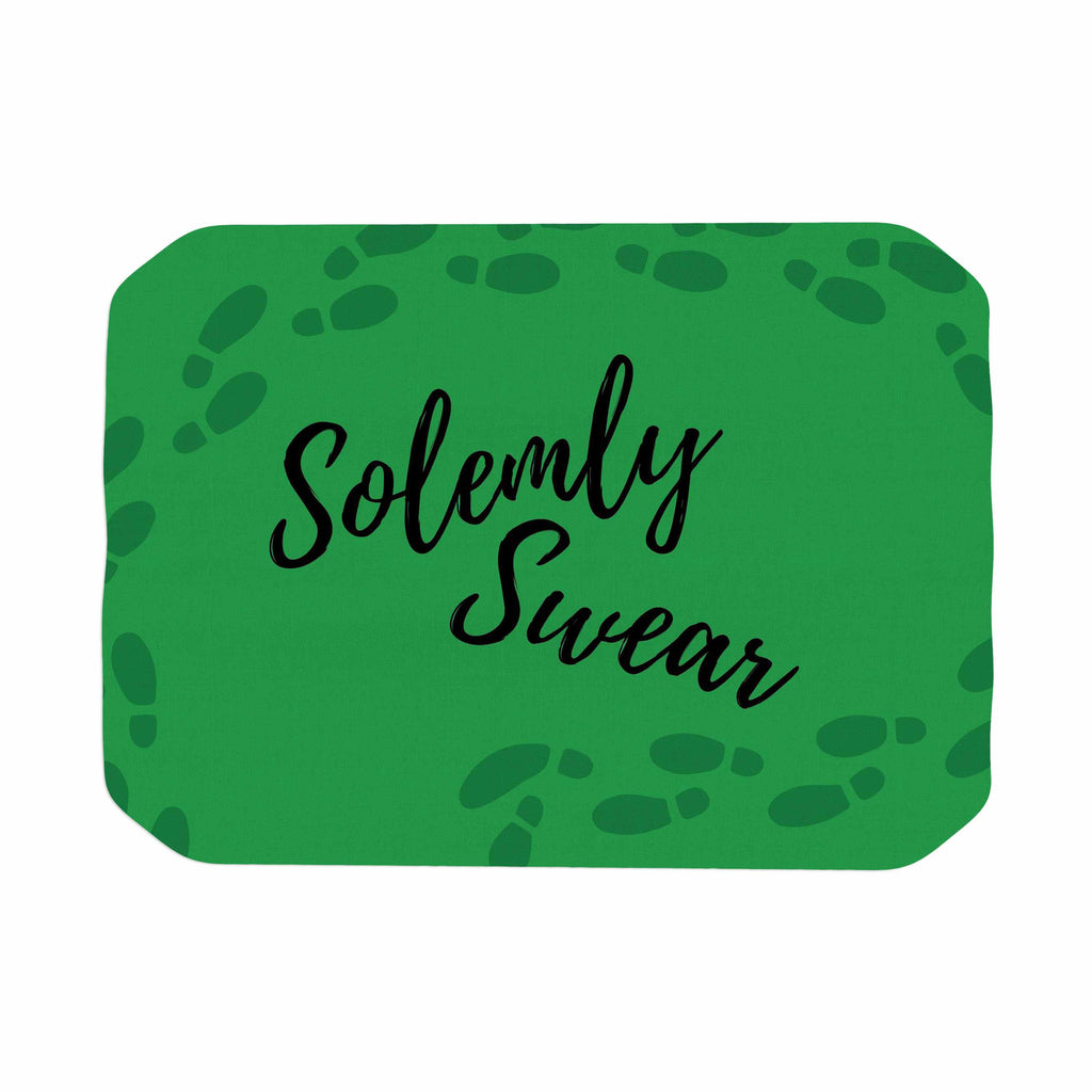 "Jackie Rose ""Solemly Swear"" Green Illustration Place Mat - KESS InHouse"