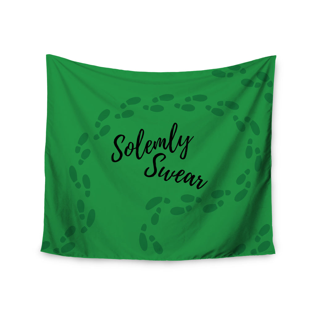 "Jackie Rose ""Solemly Swear"" Green Illustration Wall Tapestry - KESS InHouse  - 1"
