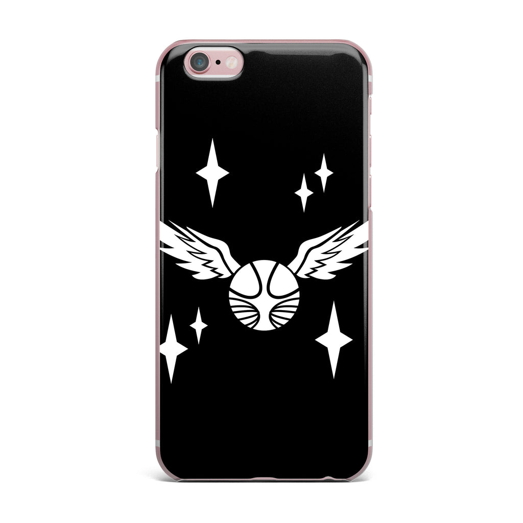 "Jackie Rose ""Golden Snitch"" Black Fantasy iPhone Case - KESS InHouse"