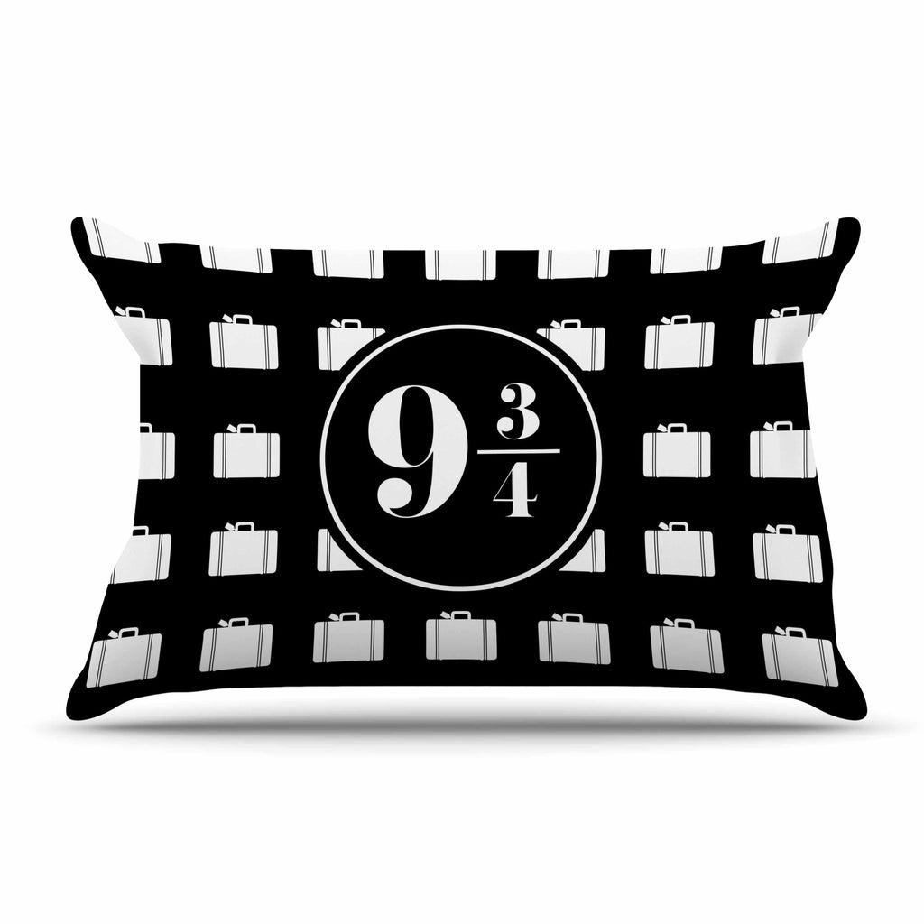 "Jackie Rose ""Platform Between 9 3/4"" Black White Pillow Sham - KESS InHouse  - 1"