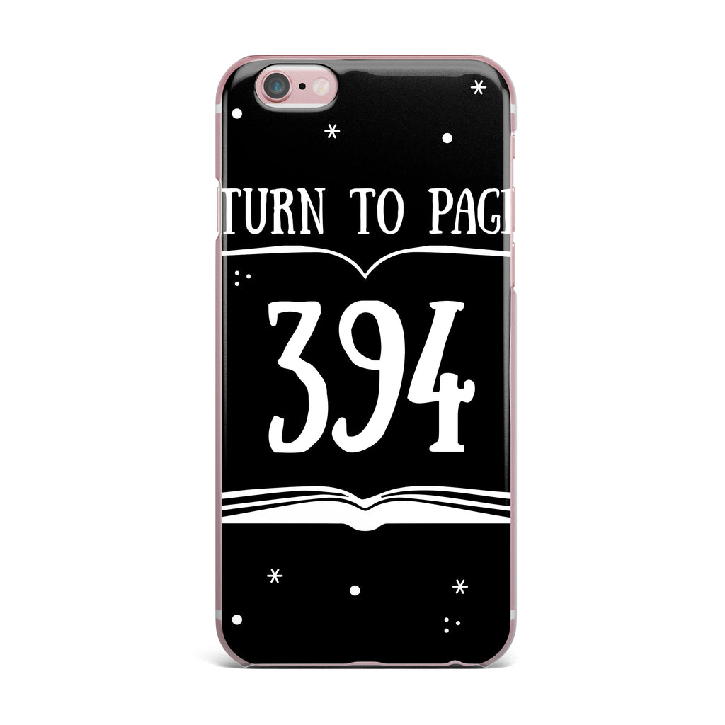 "Jackie Rose ""Turn To Page 394"" Black Pop Art iPhone Case - KESS InHouse"