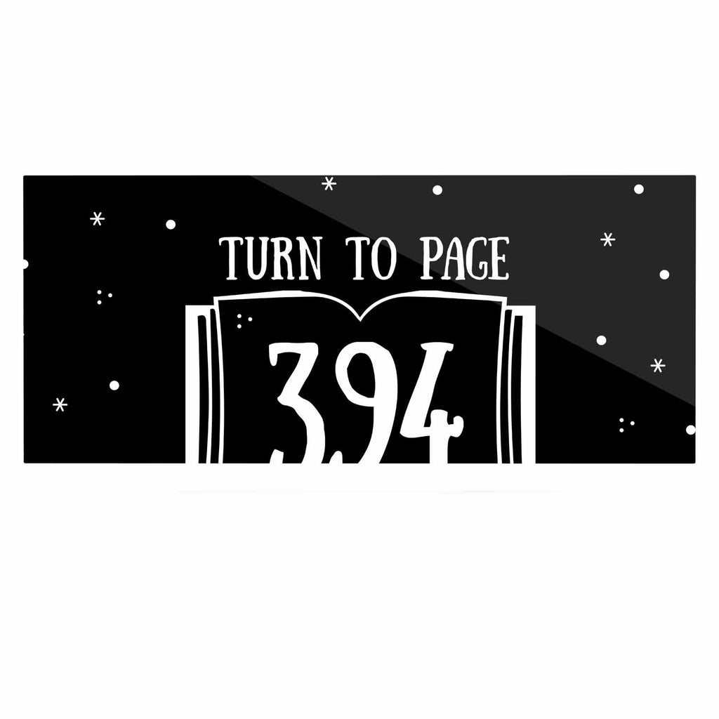 "Jackie Rose ""Turn To Page 394"" Black Pop Art Luxe Rectangle Panel - KESS InHouse  - 1"