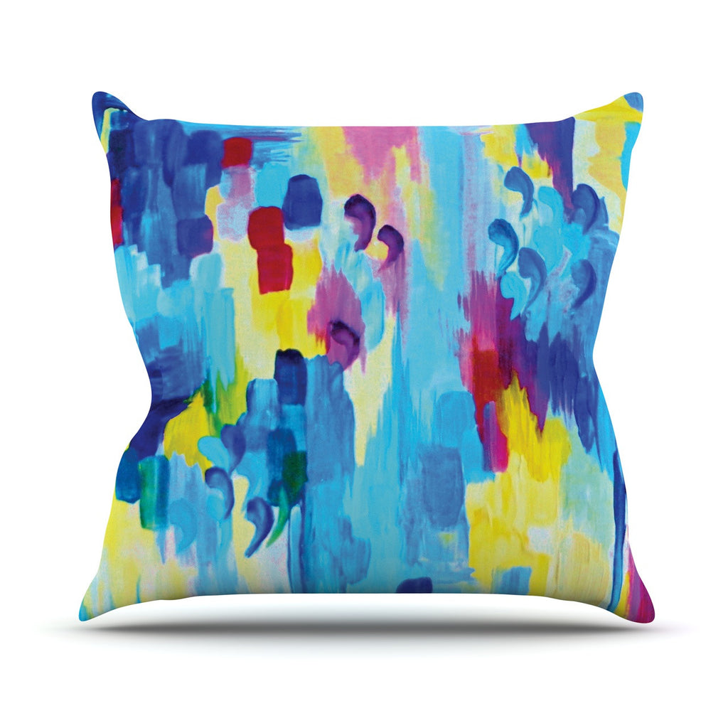 "Ebi Emporium ""Don't Quote Me, Revisited"" Throw Pillow - KESS InHouse  - 1"