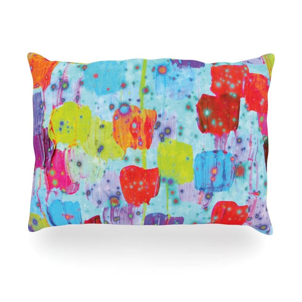 "Ebi Emporium ""Speckle Me Dotty"" Oblong Pillow - KESS InHouse"