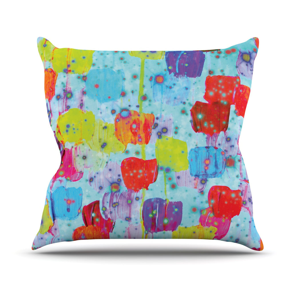"Ebi Emporium ""Speckle Me Dotty"" Outdoor Throw Pillow - KESS InHouse  - 1"