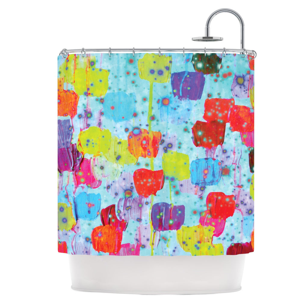 "Ebi Emporium ""Speckle Me Dotty"" Shower Curtain - KESS InHouse"