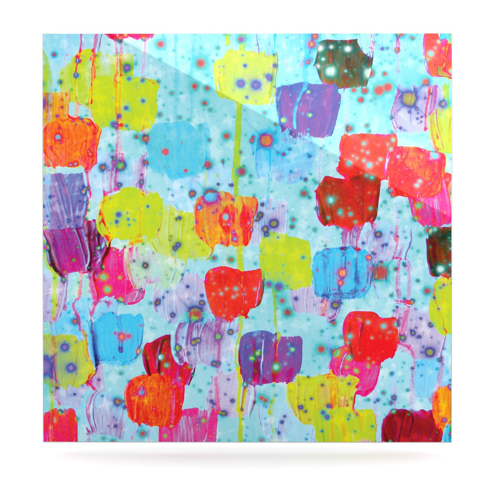 "Ebi Emporium ""Speckle Me Dotty"" Luxe Square Panel - KESS InHouse  - 1"