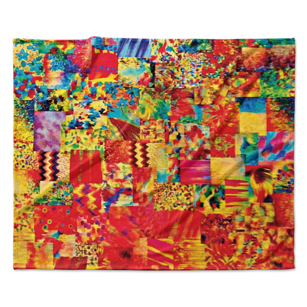 "Ebi Emporium ""Painting the Soul"" Fleece Throw Blanket"