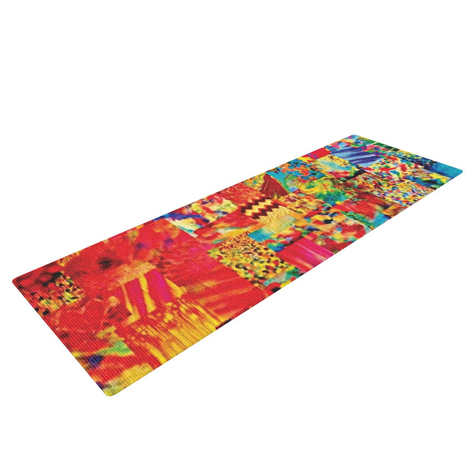 "Ebi Emporium ""Painting the Soul"" Yoga Mat - KESS InHouse  - 1"