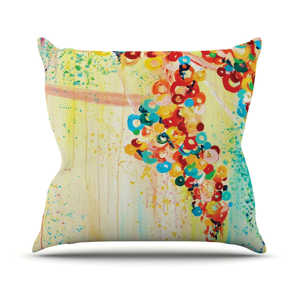 "Ebi Emporium ""Summer in Bloom"" Throw Pillow - KESS InHouse  - 1"