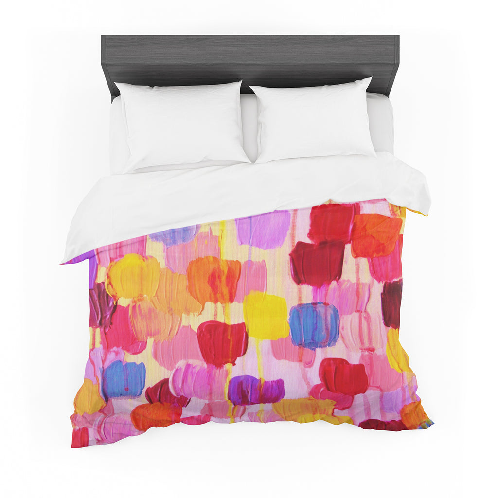 "Ebi Emporium ""Dotty in Pink"" Featherweight Duvet Cover"