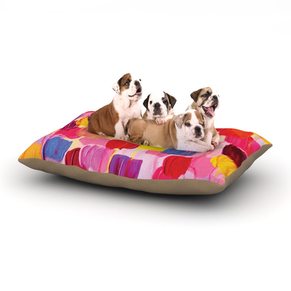 "Ebi Emporium ""Dotty in Pink"" Dog Bed - KESS InHouse  - 1"