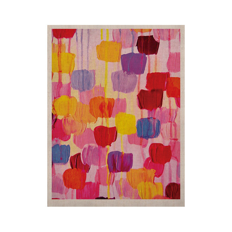 "Ebi Emporium ""Dotty in Pink"" KESS Naturals Canvas (Frame not Included) - KESS InHouse  - 1"