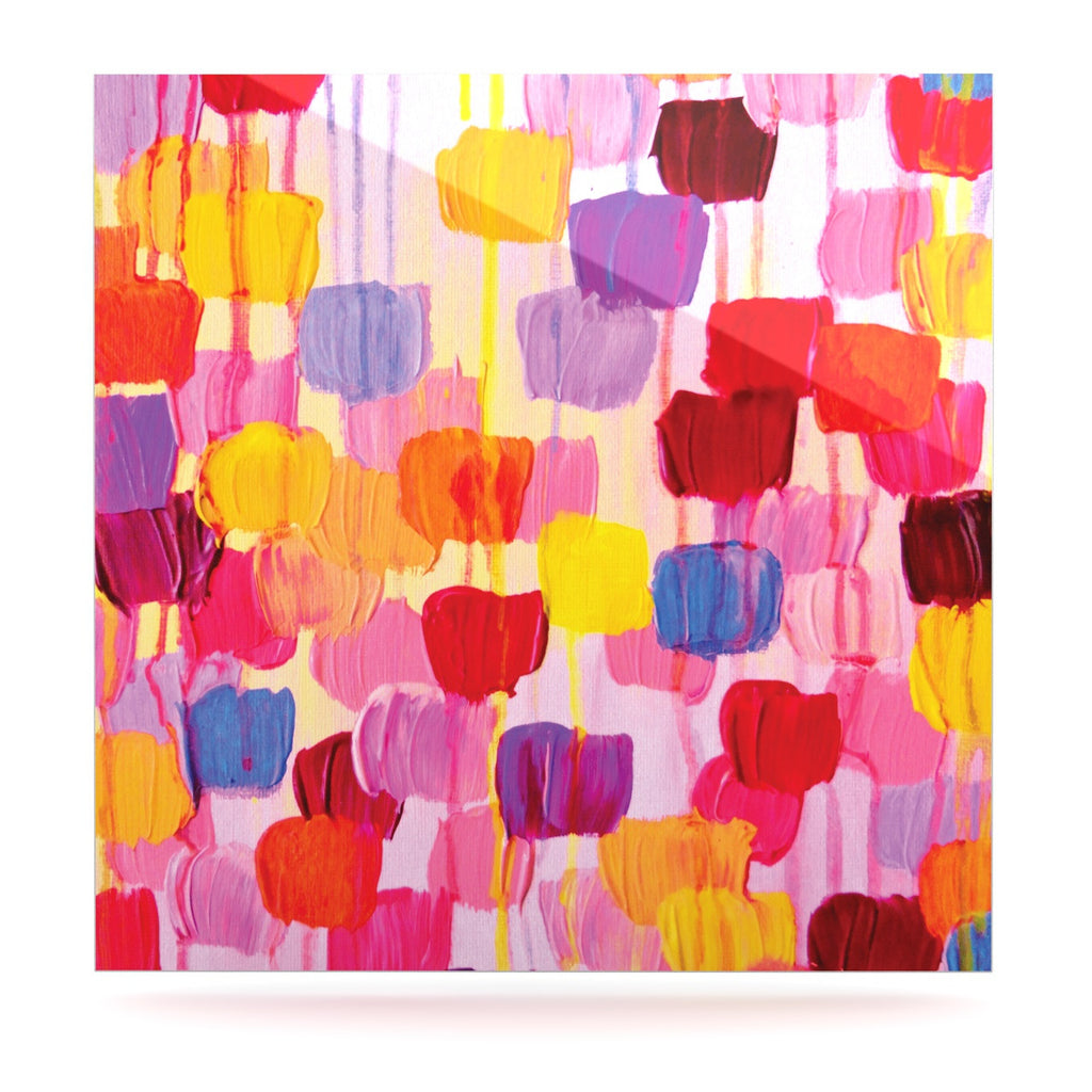 "Ebi Emporium ""Dotty in Pink"" Luxe Square Panel - KESS InHouse  - 1"