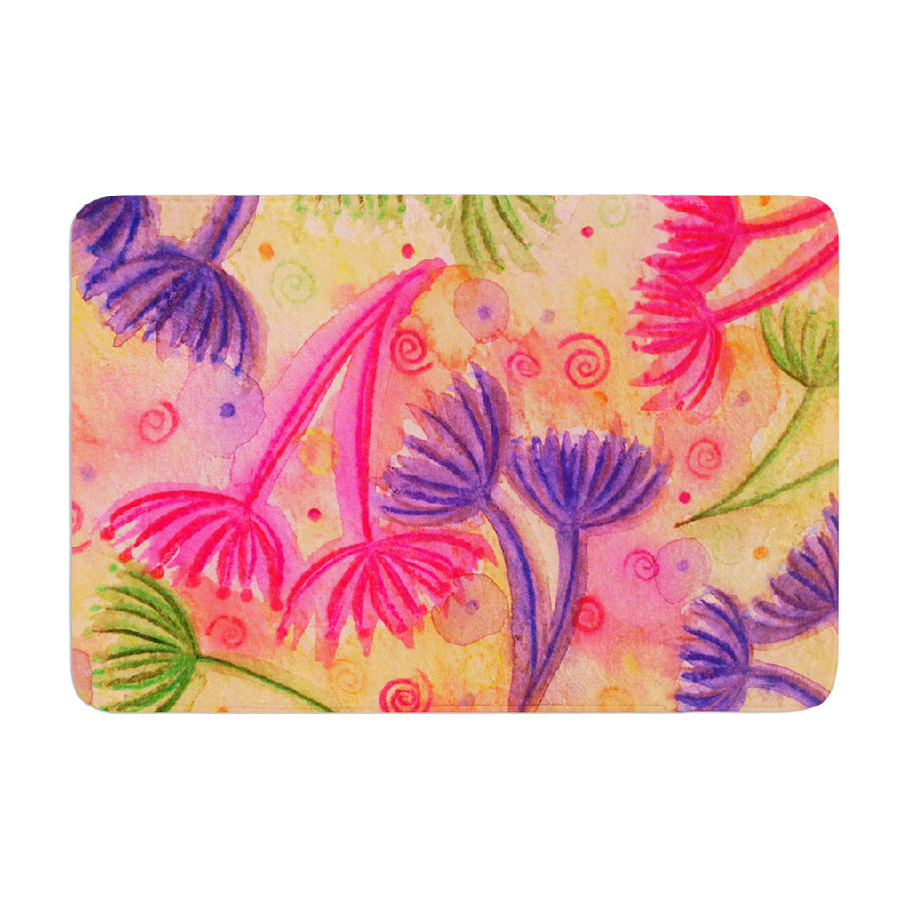 "Ebi Emporium ""Cow Parsley"" Memory Foam Bath Mat - KESS InHouse"