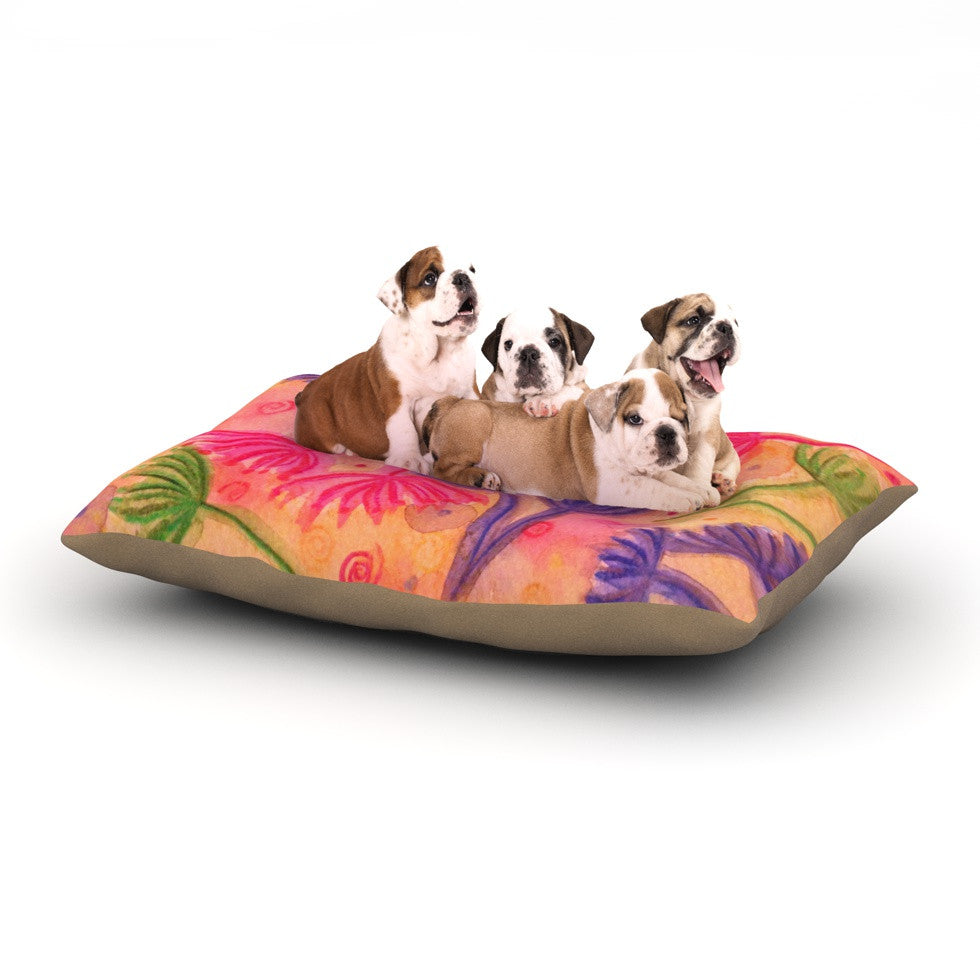 "Ebi Emporium ""Cow Parsley"" Dog Bed - KESS InHouse  - 1"