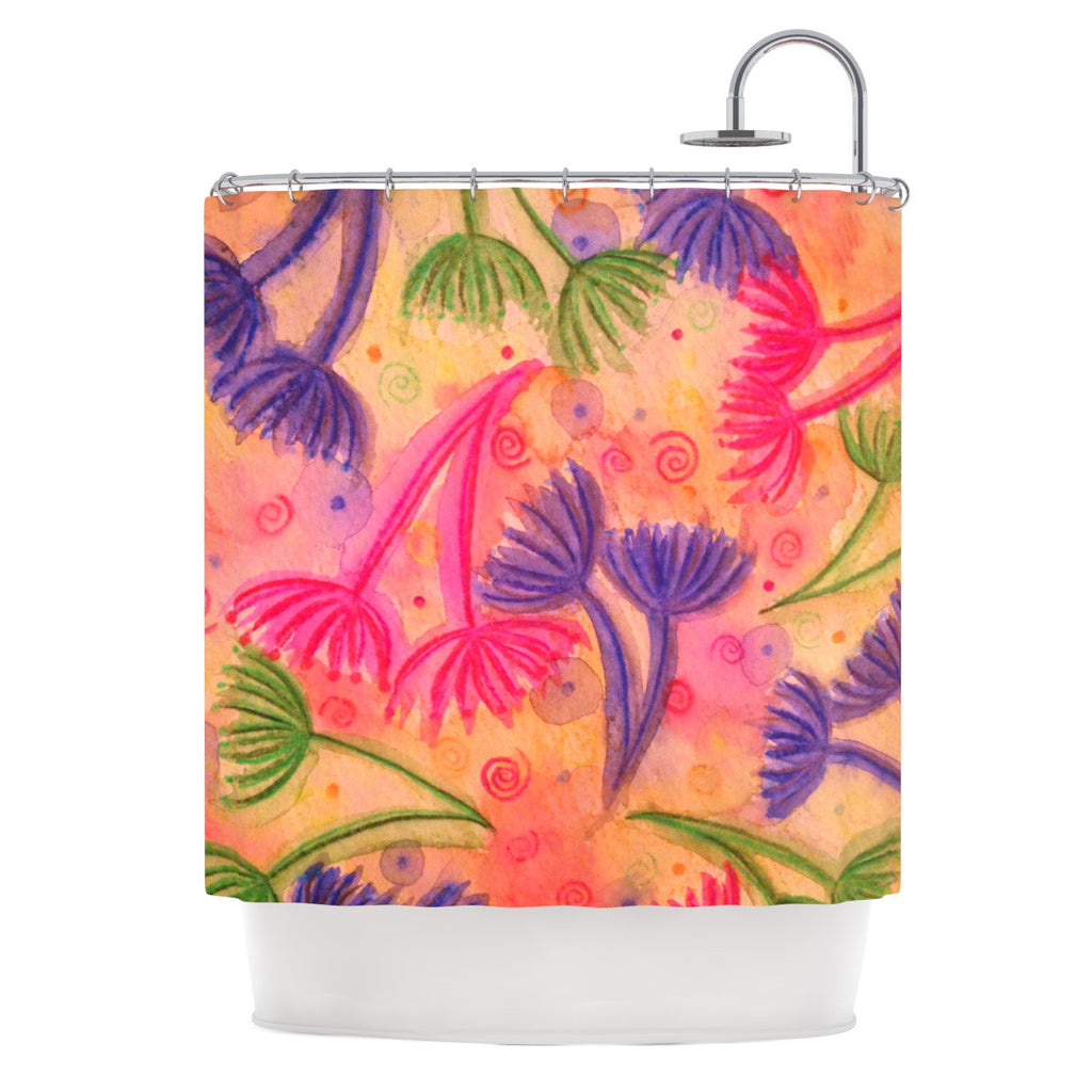 "Ebi Emporium ""Cow Parsley"" Shower Curtain - KESS InHouse"