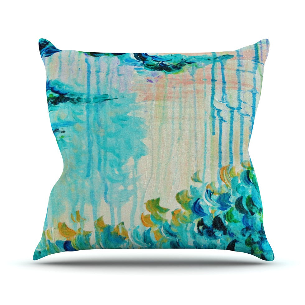 "Ebi Emporium ""Poseidons Wrath"" Throw Pillow - KESS InHouse  - 1"
