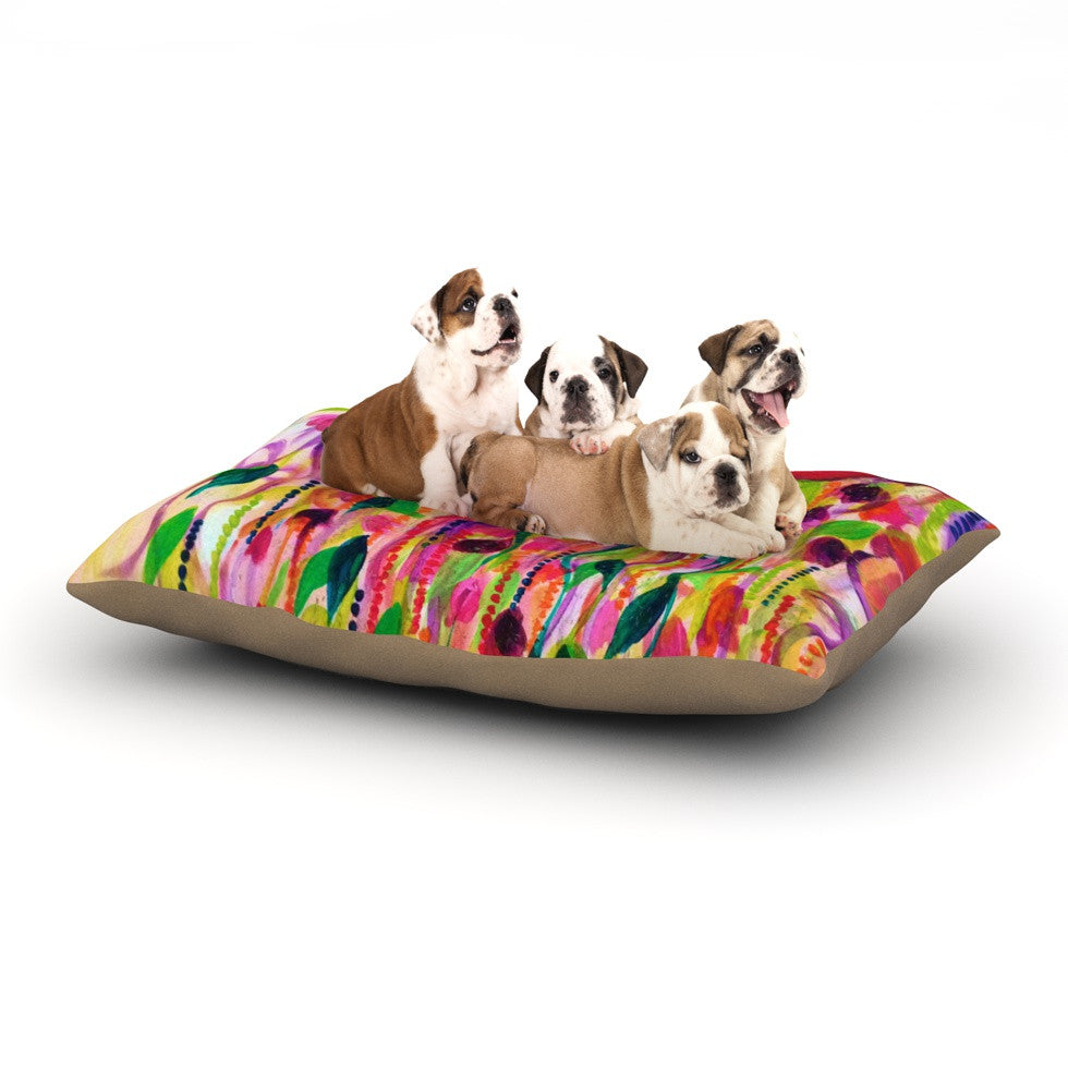 "Ebi Emporium ""Roses are Red"" Dog Bed - KESS InHouse  - 1"