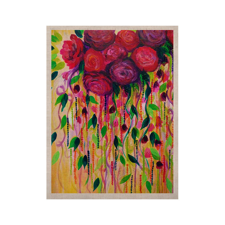 "Ebi Emporium ""Roses are Red"" KESS Naturals Canvas (Frame not Included) - KESS InHouse  - 1"