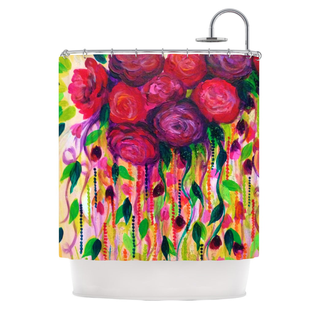 "Ebi Emporium ""Roses are Red"" Shower Curtain - KESS InHouse"