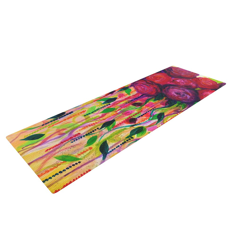 "Ebi Emporium ""Roses are Red"" Yoga Mat - KESS InHouse  - 1"