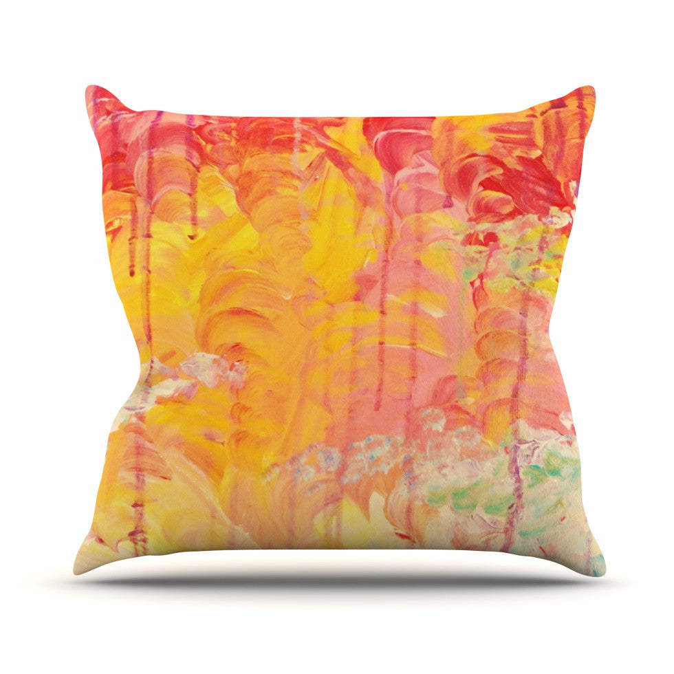 "Ebi Emporium ""Sun Showers"" Throw Pillow - KESS InHouse  - 1"