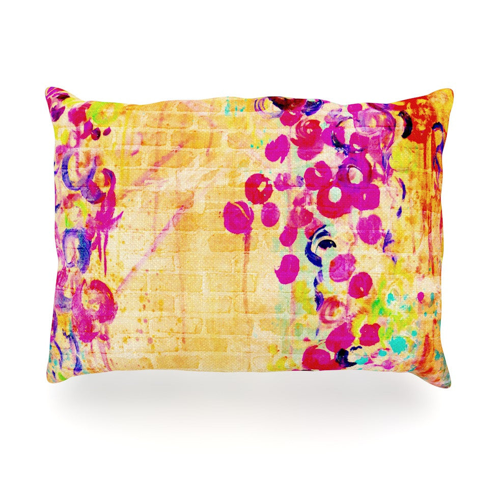 "Ebi Emporium ""Wall Flowers"" Oblong Pillow - KESS InHouse"
