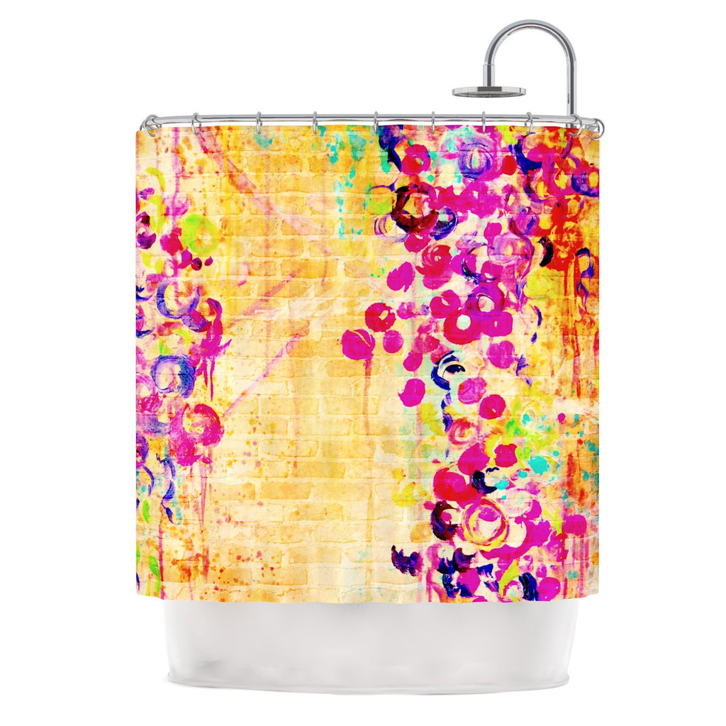 "Ebi Emporium ""Wall Flowers"" Shower Curtain - KESS InHouse"