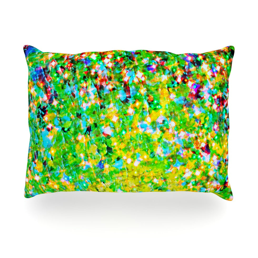 "Ebi Emporium ""Holiday Cheer"" Yellow Green Oblong Pillow - KESS InHouse"