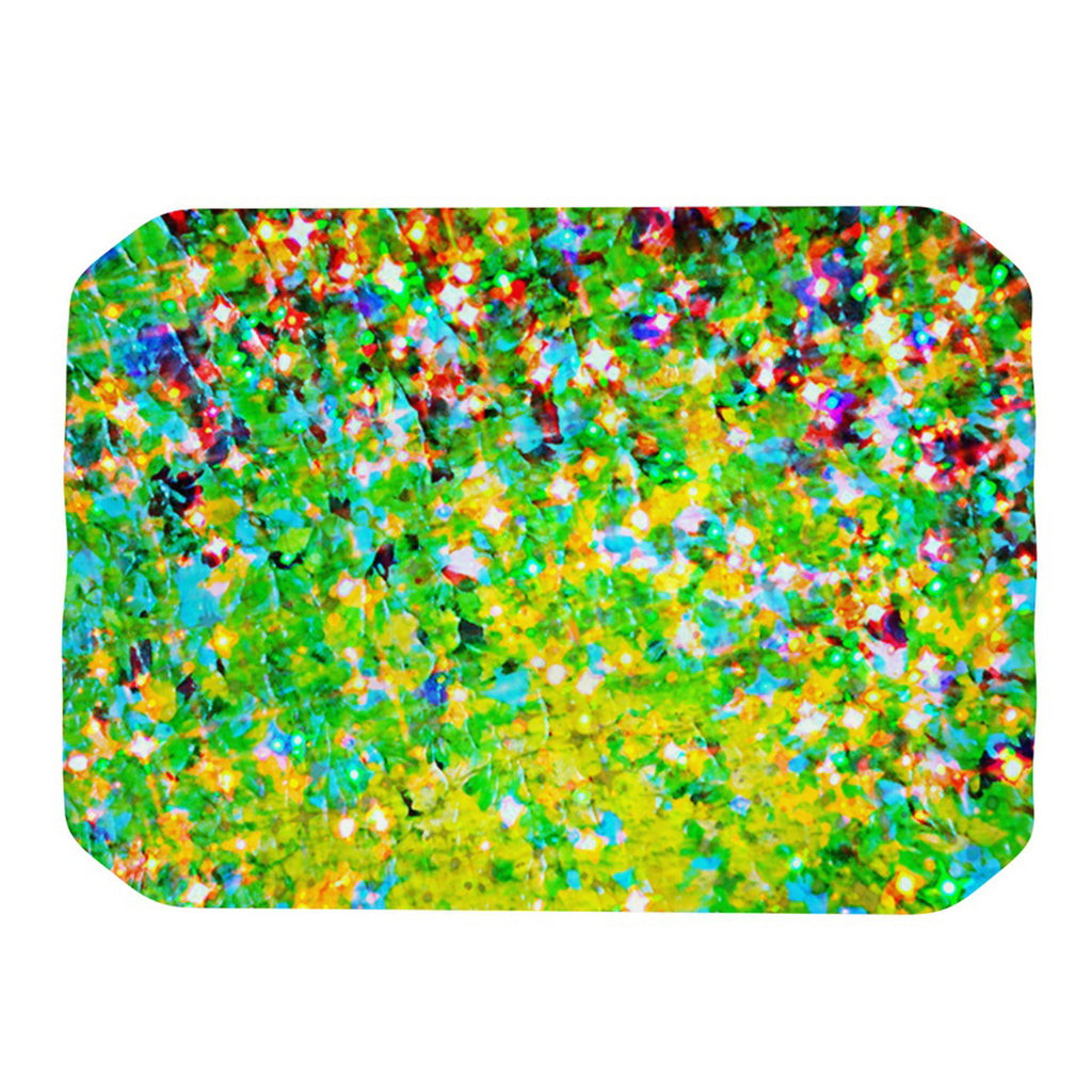 "Ebi Emporium ""Holiday Cheer"" Yellow Green Place Mat - KESS InHouse"