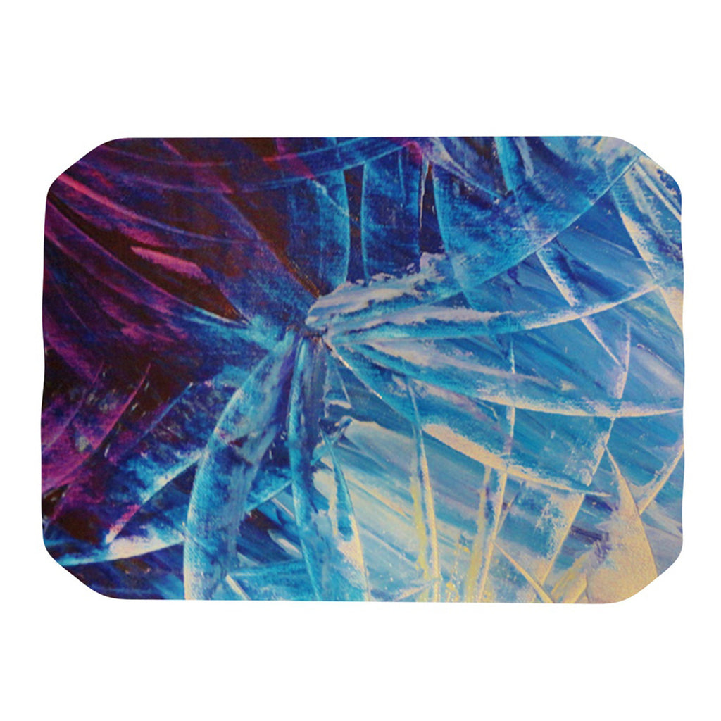 "Ebi Emporium ""Night Flowers"" Blue White Place Mat - KESS InHouse"