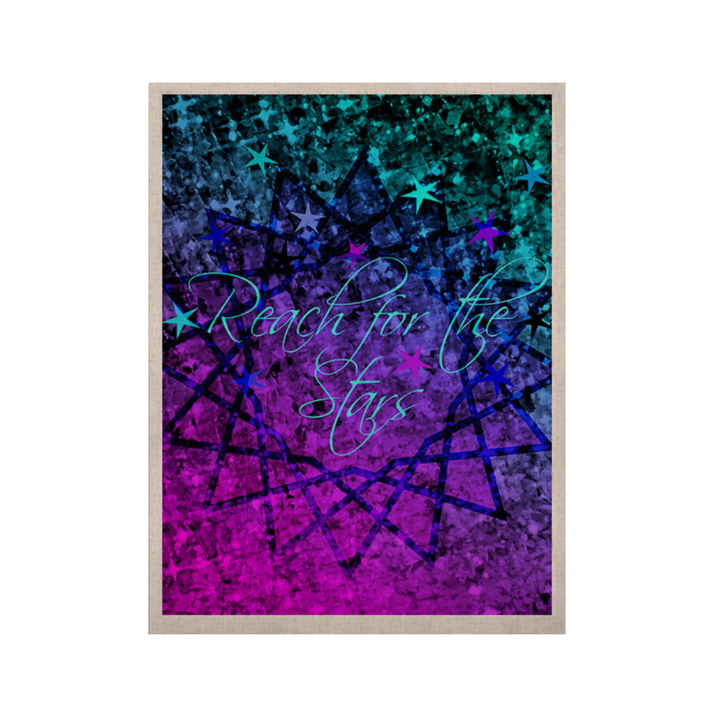"Ebi Emporium ""Reach For The Stars"" Pink Teal KESS Naturals Canvas (Frame not Included) - KESS InHouse  - 1"