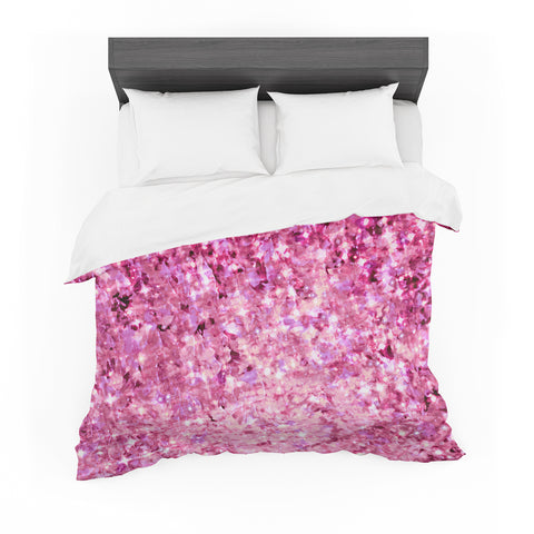 "Ebi Emporium ""Romance Me"" Pink Glitter Featherweight Duvet Cover - Outlet Item"