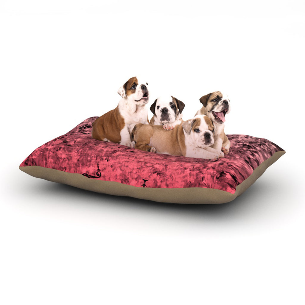 "Ebi Emporium ""So This Is Love"" Pink Glitter Dog Bed - KESS InHouse  - 1"