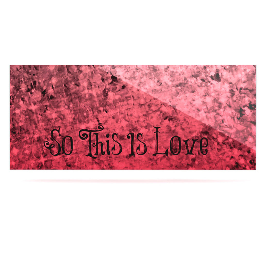 "Ebi Emporium ""So This Is Love"" Pink Glitter Luxe Rectangle Panel - KESS InHouse  - 1"