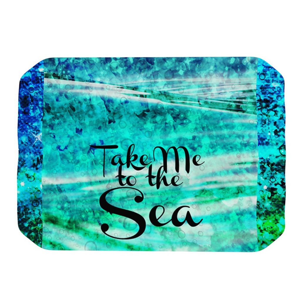 "Ebi Emporium ""Take Me to the Sea"" Aqua Glitter Place Mat - KESS InHouse"