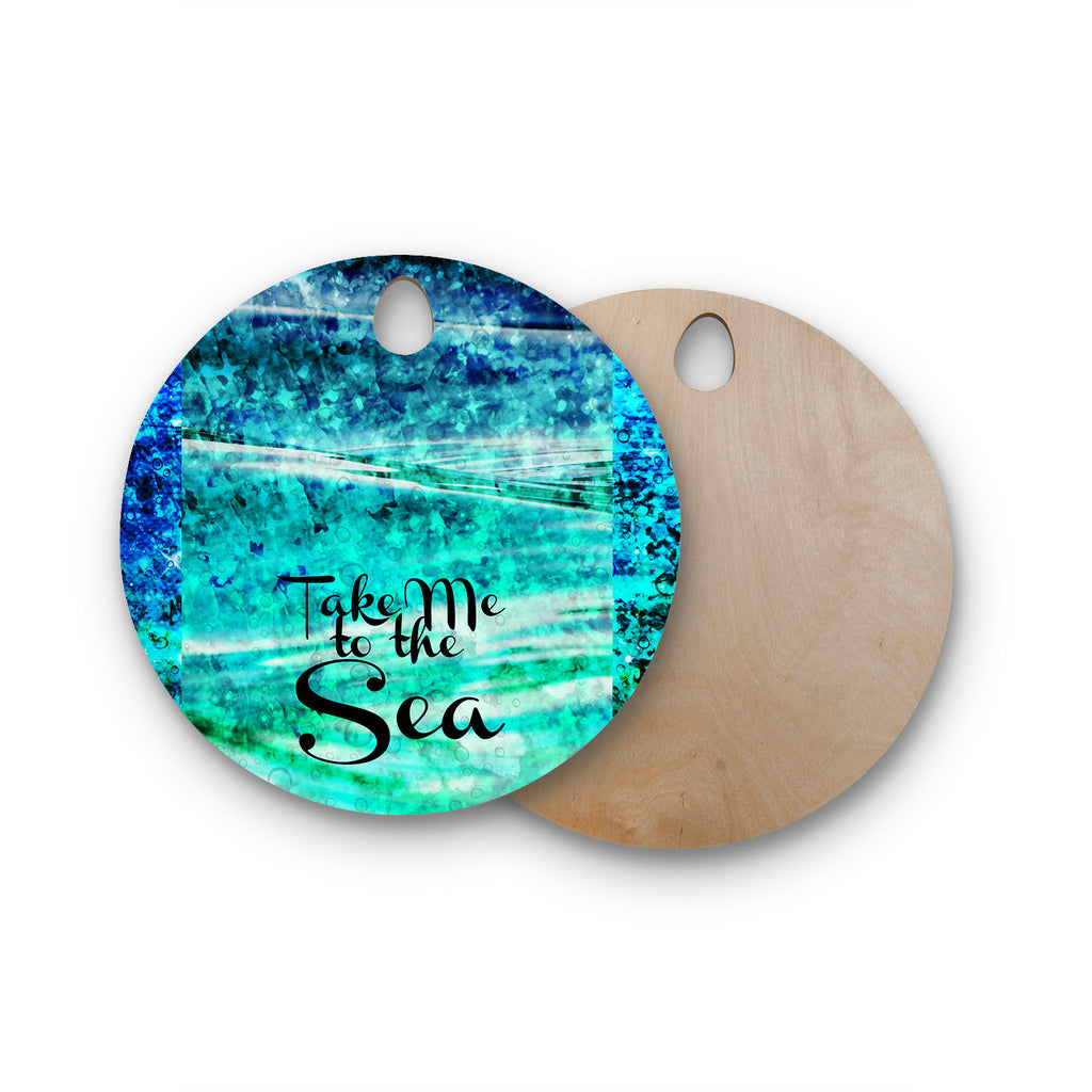 Take Me to the Sea Round Wooden Cutting Board by Ebi Emporium | KESS ...