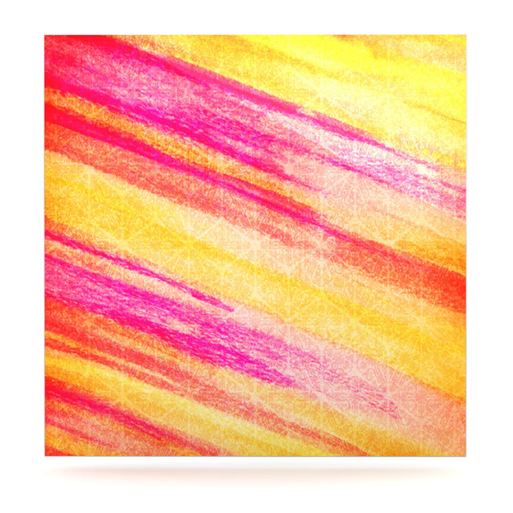 "Ebi Emporium ""All That Jazz"" Yellow Pink Luxe Square Panel - KESS InHouse  - 1"