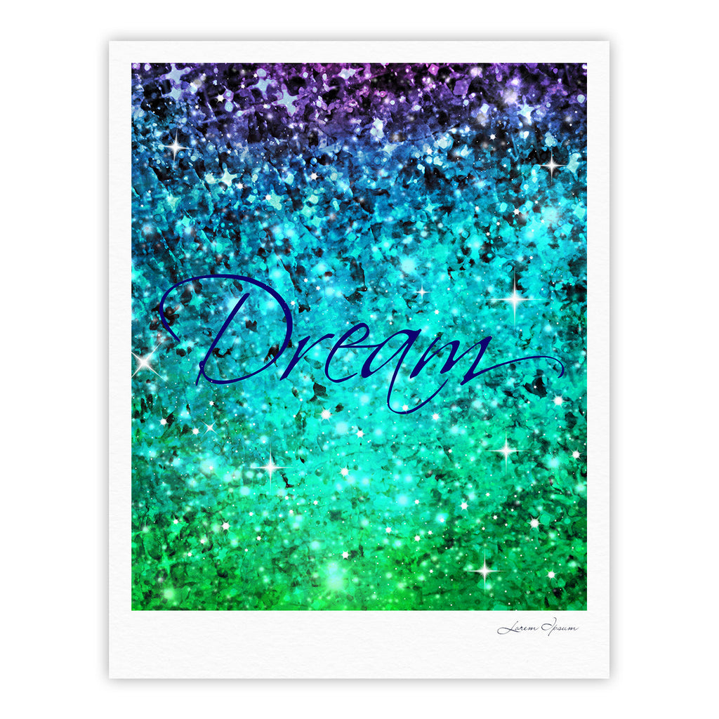 "Ebi Emporium ""Dream"" Blue Teal Fine Art Gallery Print - KESS InHouse"