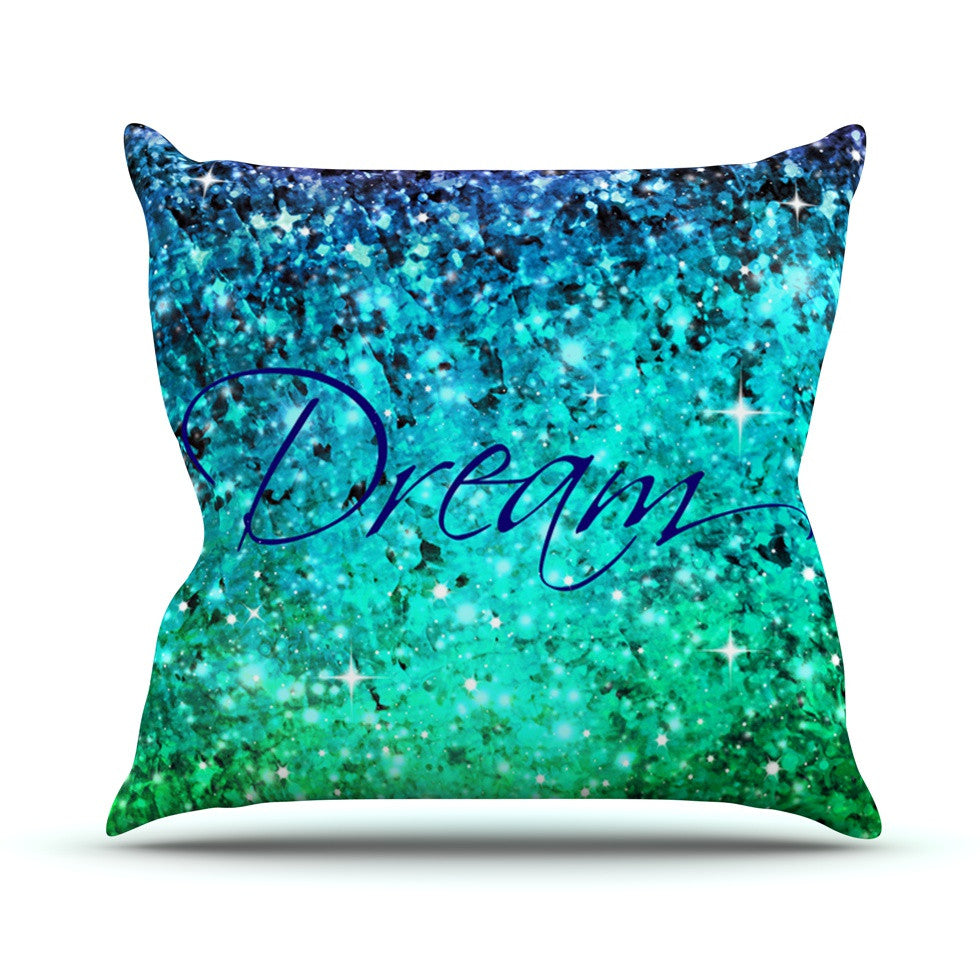 "Ebi Emporium ""Dream"" Blue Teal Throw Pillow - KESS InHouse  - 1"