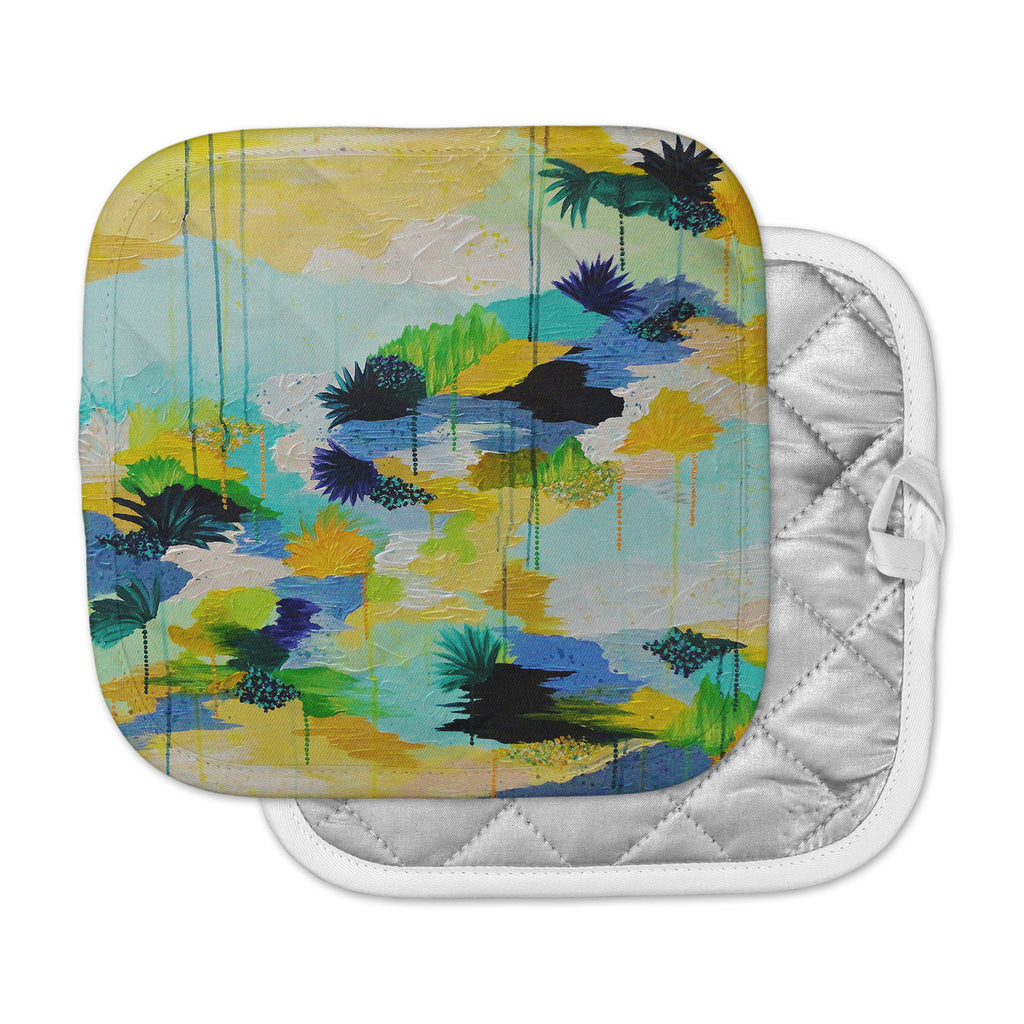 "Ebi Emporium ""Journey to Paradise"" Yellow Aqua Pot Holder"