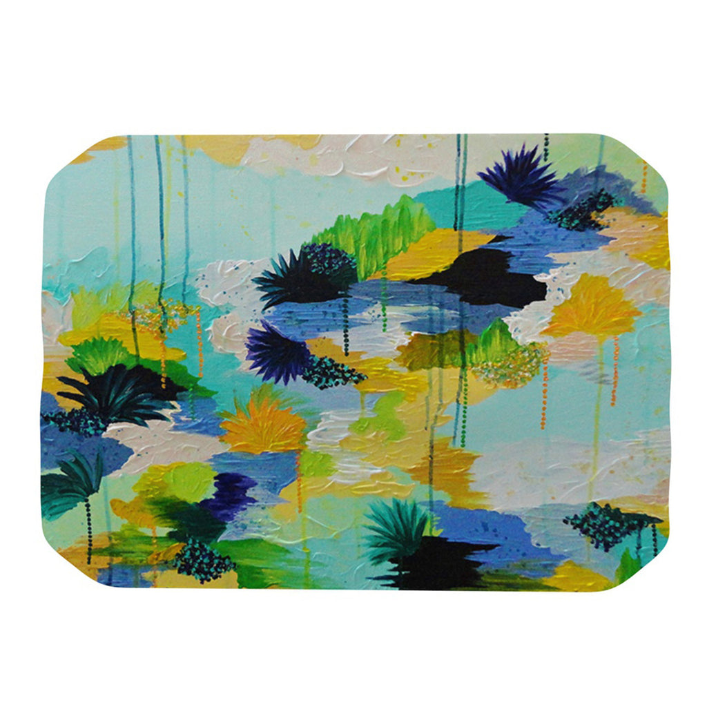"Ebi Emporium ""Journey to Paradise"" Yellow Aqua Place Mat - KESS InHouse"