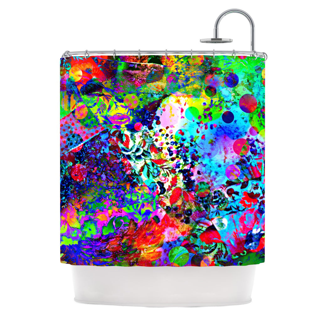 "Ebi Emporium ""Jungle Fever"" Multicolor Shower Curtain - KESS InHouse"