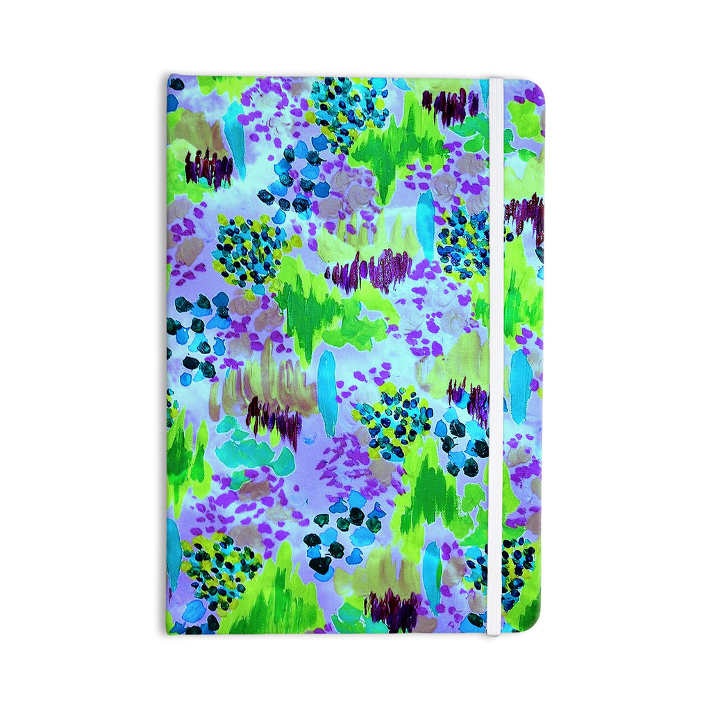 "Ebi Emporium ""Lagoon Love"" Lavender Green Everything Notebook - KESS InHouse  - 1"