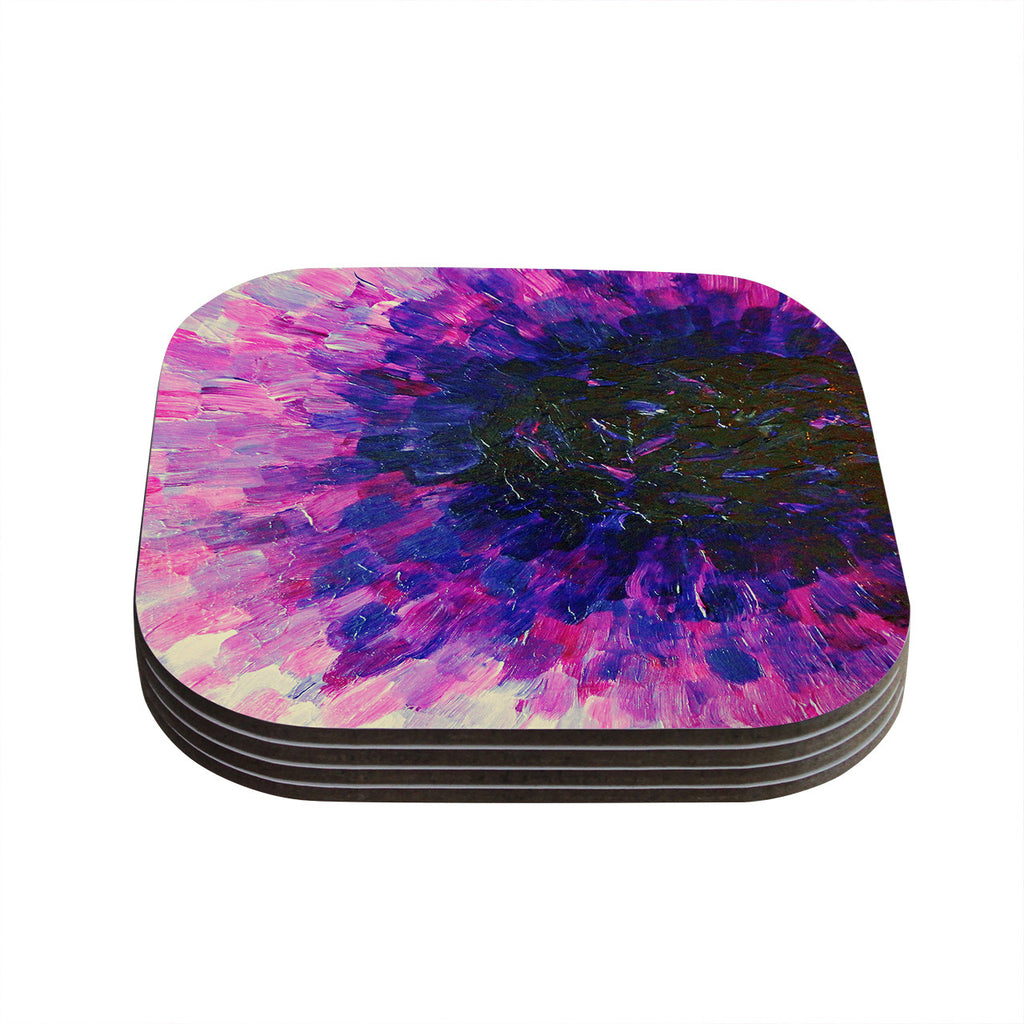 "Ebi Emporium ""Limitless"" Pink Purple Coasters (Set of 4)"