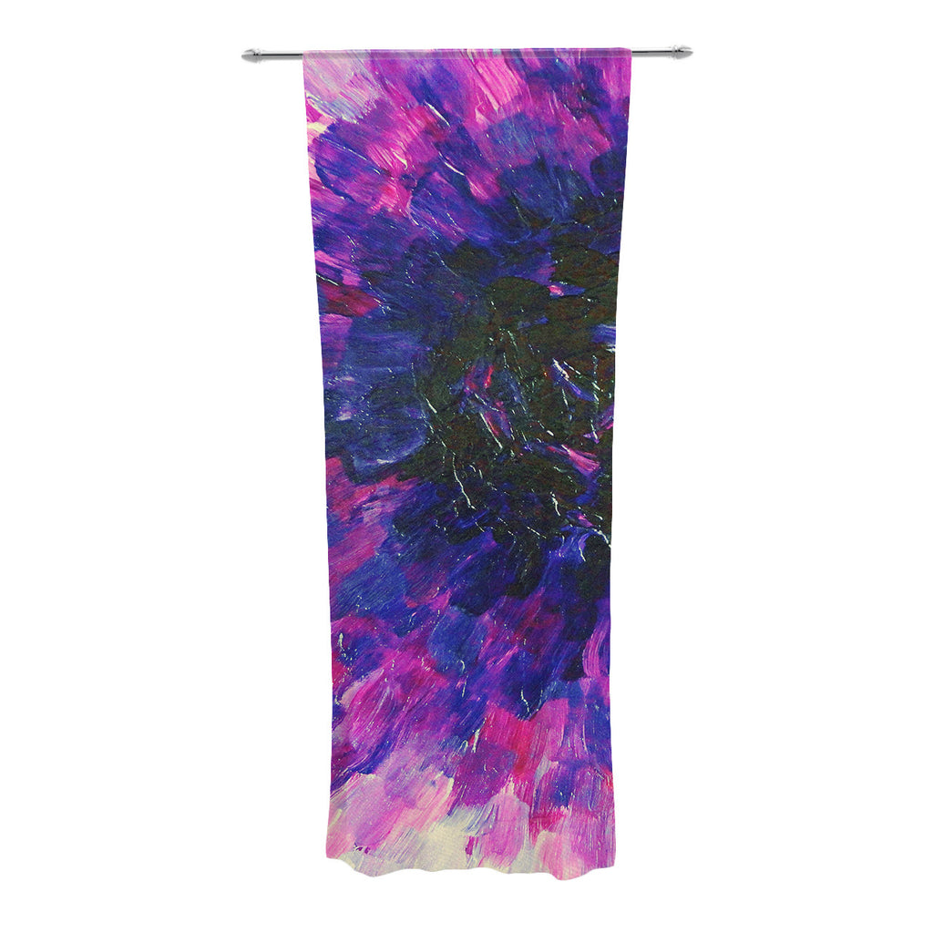 "Ebi Emporium ""Limitless"" Pink Purple Decorative Sheer Curtain - KESS InHouse  - 1"