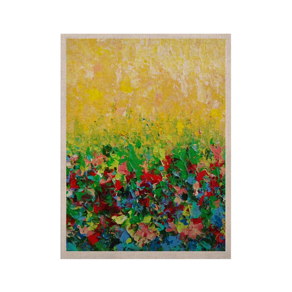 "Ebi Emporium ""My Paintings"" Yellow Multicolor KESS Naturals Canvas (Frame not Included) - KESS InHouse  - 1"